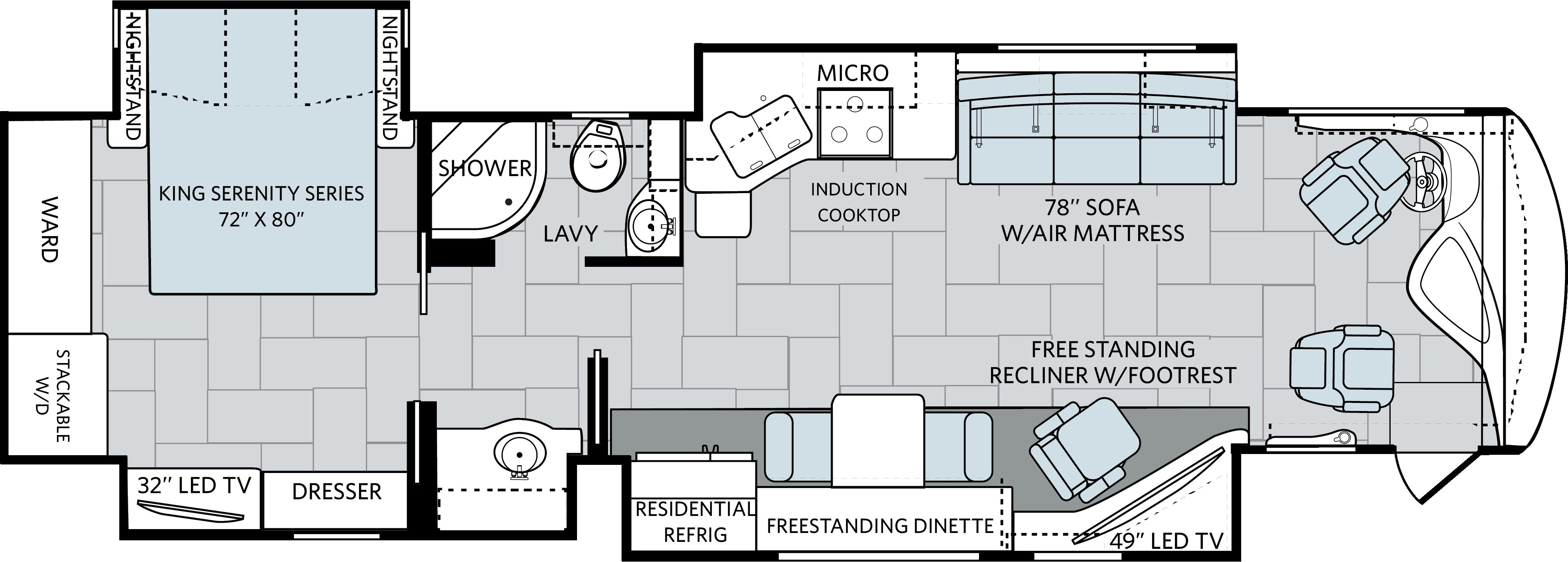 Rv Living Holiday Rambler Navigator Class A Diesel Motorhomes Induction Heating Vacuum Tube Schematics Get Free Image Floorplan 37r